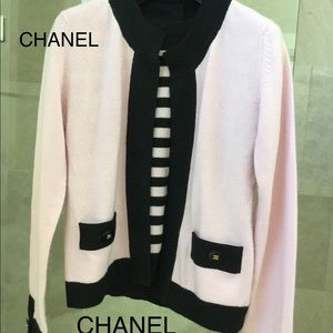 CHANEL cashmere twin cardigan set Size 42